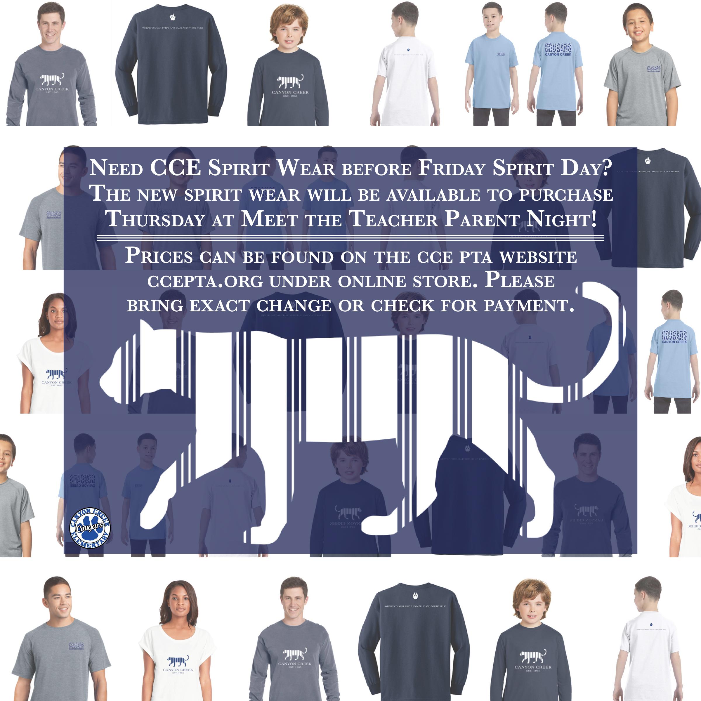 CCE Spirit Wear